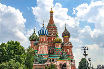 Poster  St. Basil's Cathedral in Moscow III - HADYPHOTO