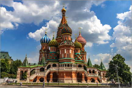 Poster  St. Basil's Cathedral in Moscow II - HADYPHOTO