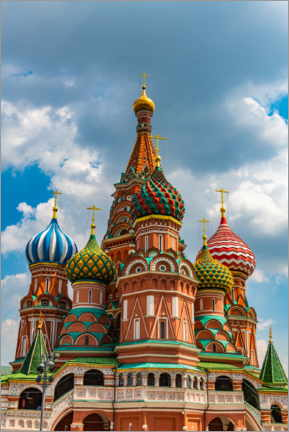Poster  St. Basil's Cathedral in Moscow 1 - HADYPHOTO