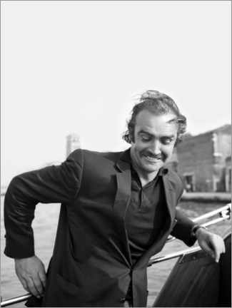 Poster  Scottish actor Sean Connery, Venice 1970s