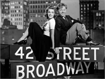 Poster Judy Garland And Mickey Rooney, Babes On Broadway 1941