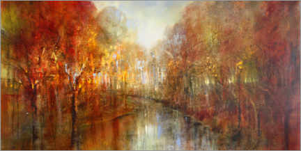 Tableau en bois  And the forests will echo with laughter - Annette Schmucker