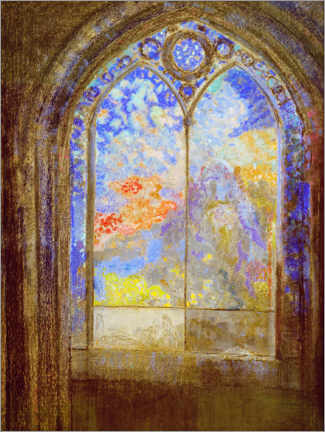 Tableau en verre acrylique  Church window - Odilon Redon