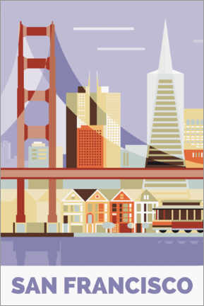 Poster San Francisco Golden Gate Bridge