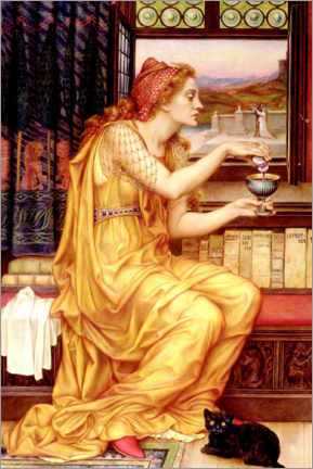 Tableau en aluminium  Le philtre d'amour - Evelyn De Morgan