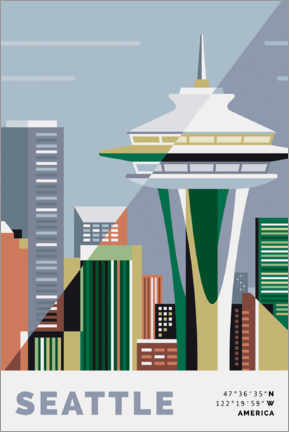 Poster  Seattle Space Needle - Nigel Sandor