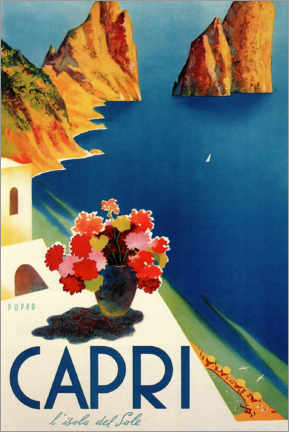Poster  Capri, isola der Sole - Travel Collection