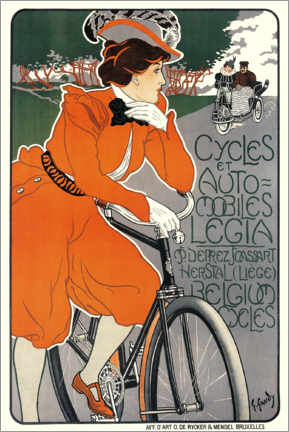 Poster  Cycles et automobiles legia - Georges Gaudy