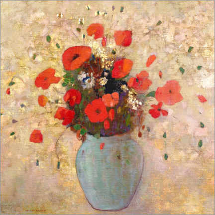 Poster Vase of poppies