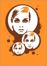 Sticker mural  Twiggy Mathmos Orange - JASMIN!