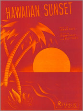 Poster Hawaiian sunset