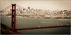 Tableau en plexi-alu  San Francisco, vue panoramique - Jan Schuler