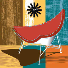 Sticker mural coconut chair