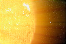 Tableau en plexi-alu  The relative sizes of the Sun and the Earth - Stocktrek Images