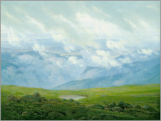 Tableau en plexi-alu  Drifting Clouds - Caspar David Friedrich