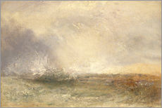 Tableau en plexi-alu  Mer orageuse - Joseph Mallord William Turner