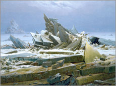 Tableau en plexi-alu  La mer polaire - Caspar David Friedrich