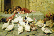 Sticker mural  The Last Spoonful - Briton Riviere