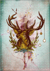 Sticker mural  Oh Deer, is that the time? - Sybille Sterk
