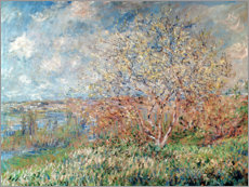 Sticker mural  Printemps - Claude Monet