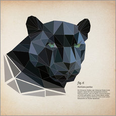 Sticker mural  fig6 polygon Panther square - Labelizer