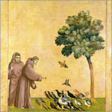 Sticker mural  St. Francis of Assisi preaching to the birds - Giotto di Bondone