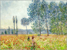 Sticker mural  Sous les Peupliers - Claude Monet