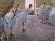 Sticker mural  Danseuses en train de répéter - Edgar Degas