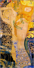 Sticker mural  Serpents d'eau I - Gustav Klimt