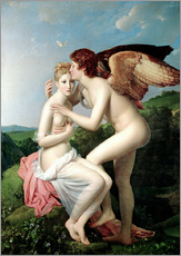 Sticker mural  Psyche Receiving the First Kiss of Cupid - François Pascal Simon Gerard