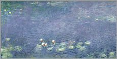 Sticker mural  Nymphéas : Matin - Claude Monet