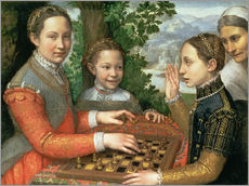 Tableau en plexi-alu  Game of Chess - Sofonisba Anguissola