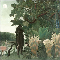 Sticker mural  La Charmeuse de serpents - Henri Rousseau
