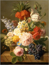 Sticker mural  Still Life with Flowers and Fruit - Jan Frans van Dael
