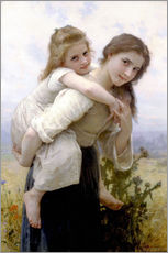 Sticker mural  Not hard to bear - William Adolphe Bouguereau