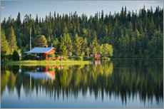 Tableau en plexi-alu  Summer in Lapland - Rainer Mirau