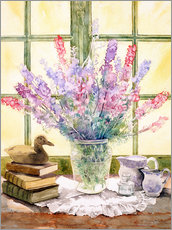 Sticker mural  Lupins on Windowsill - Julia Rowntree