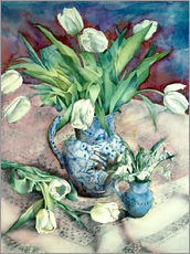 Sticker mural  Tulips and Snowdrops - Julia Rowntree
