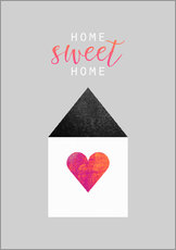 Sticker mural  Home Sweet Home - Elisabeth Fredriksson
