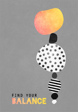 Sticker mural  Find your balance - Elisabeth Fredriksson