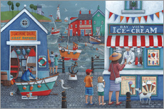 Sticker mural  Seaside icecreams - Peter Adderley