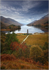 Tableau en plexi-alu  Le Monument de Glenfinnan en Écosse - Martina Cross