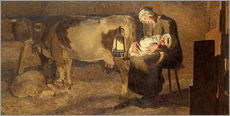 Sticker mural  Two Mothers - Giovanni Segantini