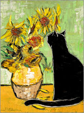 Sticker mural  Le chat de Van Gogh - JIEL