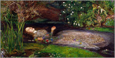 Sticker mural  Ophélie - Sir John Everett Millais