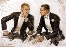 Tableau en plexi-alu  Nobles messieurs en smoking - Joseph Christian Leyendecker