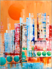 Poster Skyline abstraite de New York