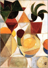 Tableau en plexi-alu  Composition III Nature Morte - Theo van Doesburg