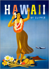 Sticker mural  Hawaii by Clipper vintage travel - Travel Collection
