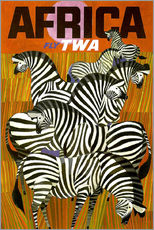 Sticker mural  Africa Fly TWA - Travel Collection